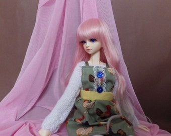 MSD 1/4 BJD dress and knitted top