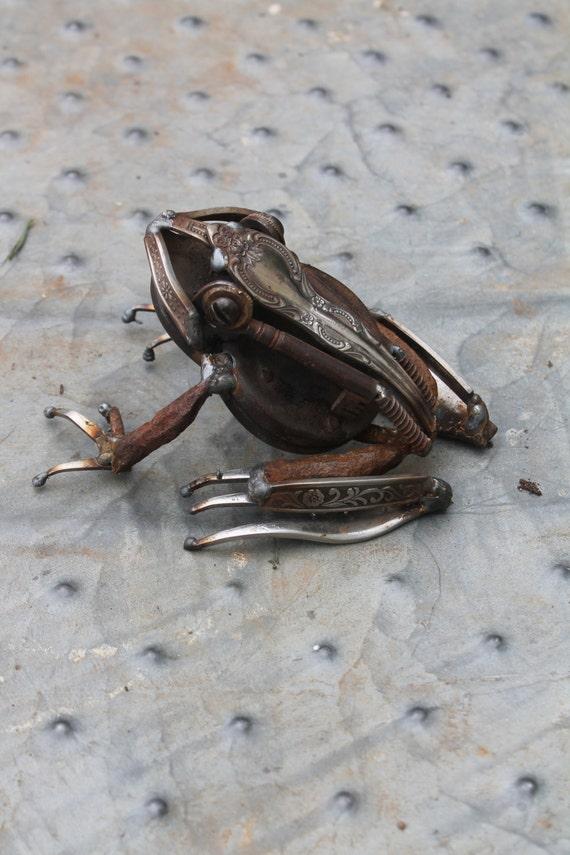 Recycling schrott metall skulptur ein von greenhandsculpture - Sculpture metal jardin ...