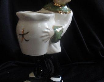 Vintage Chinese Lady Figurine Planter