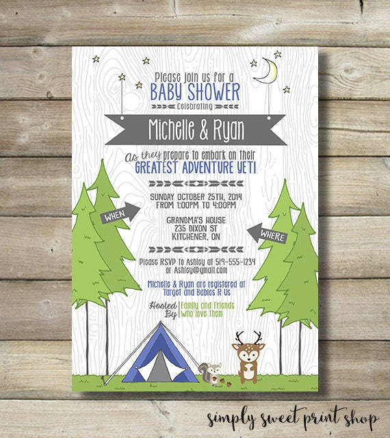 Custom Baby Shower Invitation for luxury invitations template