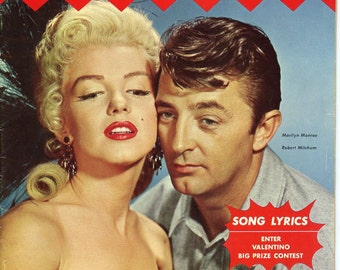 Song Fan Magazine   1954   Marilyn Monroe Cover   River of No Return Movie    ...more   also Robert Mitchum   Great Quality !