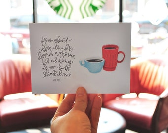 how about coffee you've got mail greeting card // valentines day card / greeting card love // greeting card for her // greeting card for him