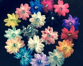 1 doz./set  Mini Tropical Lily Flower Heads  3inch diam  SUPER DEAL you choose your color sets
