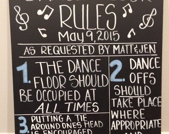 Wedding Dance Floor Chalkboard