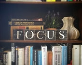 Focus Sign, Focus Art, Focus Tile Letters, Focus Wall Decor, Wooden Letter Blocks, Wood Letter Tiles, Shabby Chic Focus Sign Set, Gift Idea