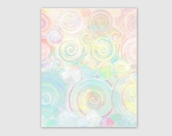 Pastel Wall Art Abstract Instant Download 1 Printable Images Home Decor Wall Decor 5x7, 8x10, 11x14 Colorful wall art