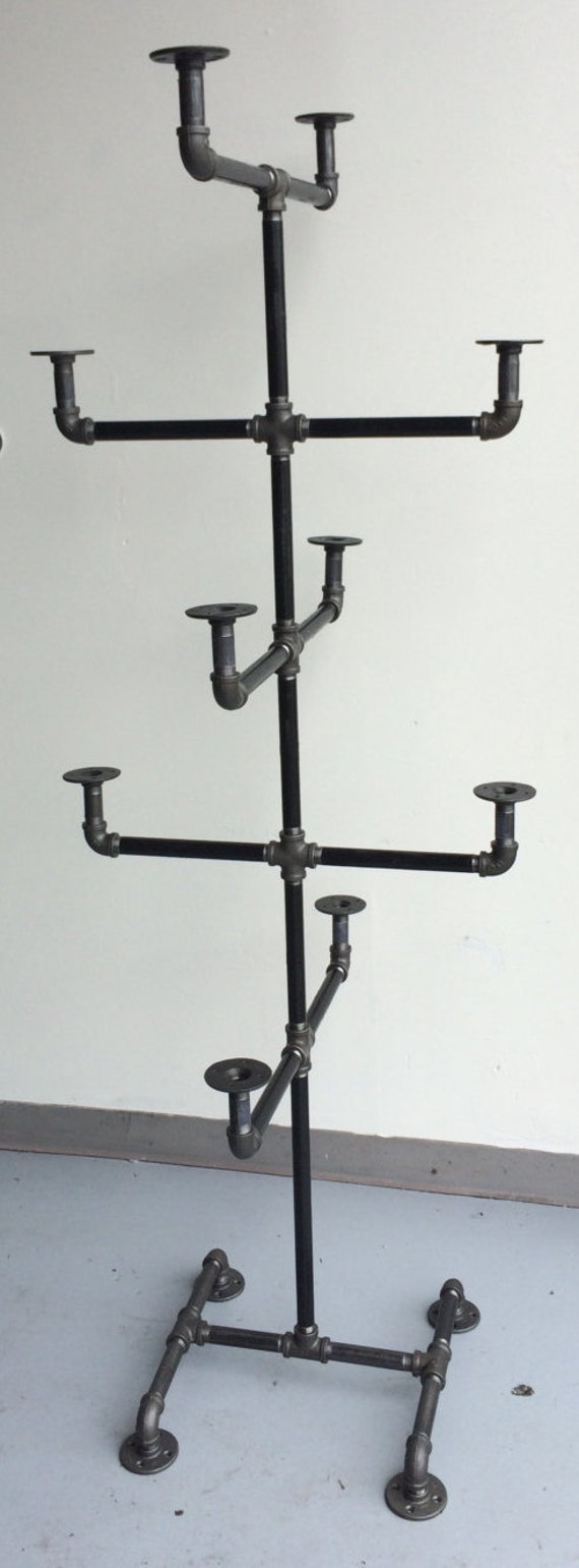 Heavy Duty Pipe Hat Rack Hat Stand By Williamrobertvintage