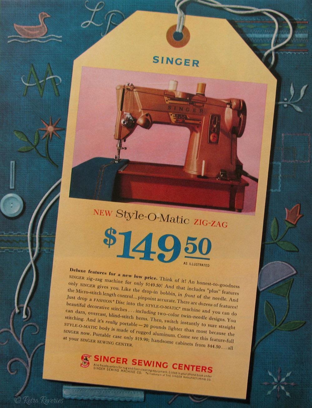 1961 singer sewing machine