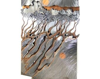 7521 Sheet Metal Landscape Wall Sculpture