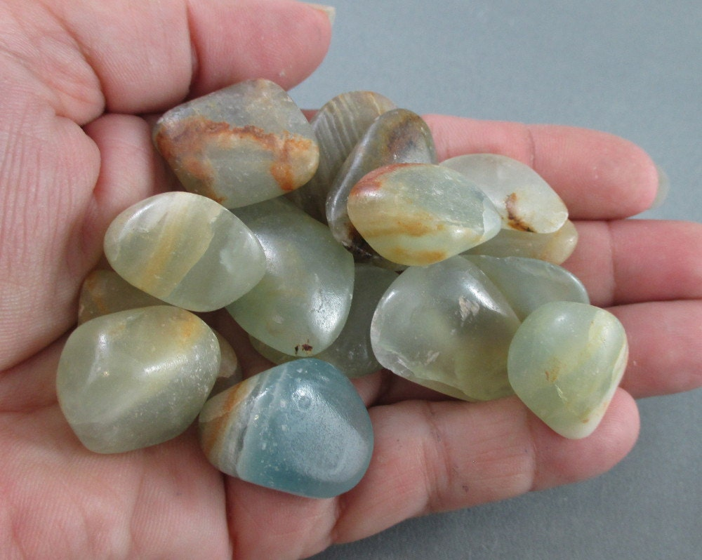 Green Onyx Stone : Green onyx stones tumbled happiness stone rocks and