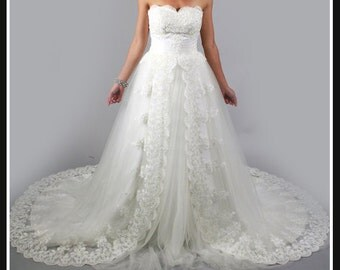 Gorgeous princess white lace wedding dress sweetheart backless sweep/brush train wedding gown