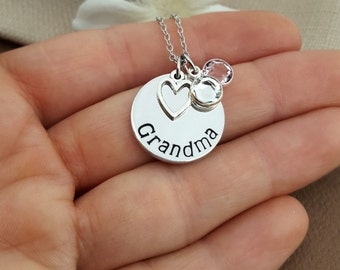 Grandma Necklace With Birthstone Charms | Grandmother Necklace | Gift For Grandma