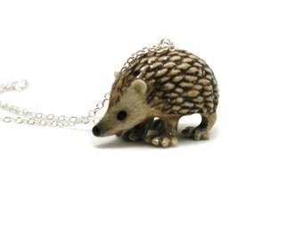 Hedgehog Necklace, Charm Necklace, Charm Jewelry, Hedgehog Pendant, Hedgehog Jewelry, Hedgehog Charm, Jewelry Gift, Wildlife Necklace