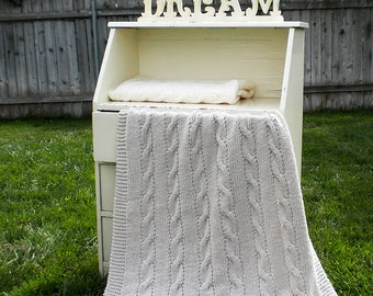 Classic Cables Baby Blanket Knitting Pattern