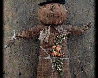 Prim Pumpkin Witch Epattern