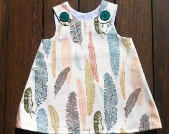 Large Feather Print Dress