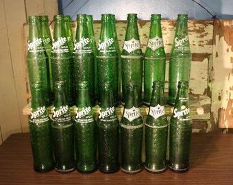 Vintage Sprite Glass Bottle 10oz