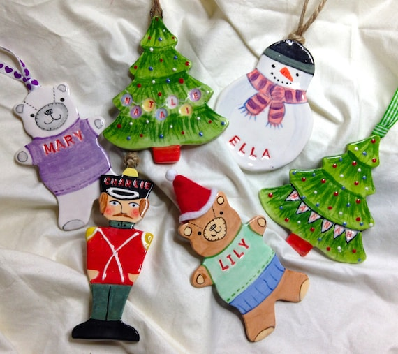 Personalised christmas tree decorations for Personalised christmas decorations