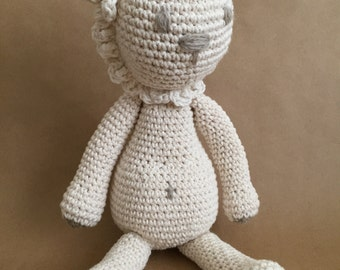 Handmade toy lion, amigurumi lion, crochet lion, kids deco, nursery deco, nordic deco, animal toy