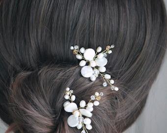 Bridal hair pins. Bridal pearl hair pins. Wedding hair pins. Hair pins. Pearl hair pins MOD615