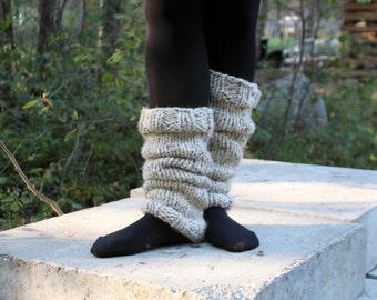 Knitted Leg Warmers / Chunky Footless Socks / Yoga Socks / The Sophia Leg Warmers