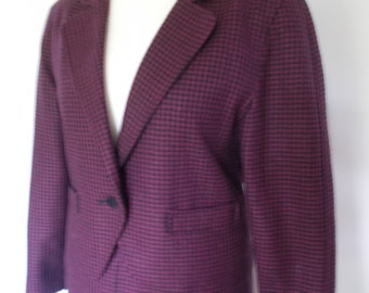 Vintage womens skirt suit 80s by Jacques Vert Pure new wool skirt suit size Medium