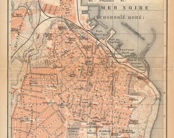 1911 Odessa Ukraine Antique Map