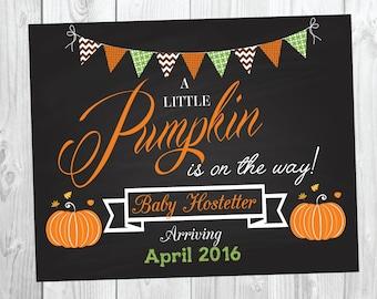 Pumpkin Pregnancy Announcement Sign - Photo Prop - Big Brother Big Sister - Fall - Pumpkin - Halloween Announcement