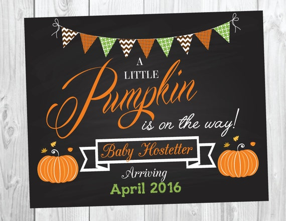 Pumpkin Pregnancy Announcement Sign - Photo Prop - Big Brother Big Sister - Fall - Pumpkin - Halloween Announcement