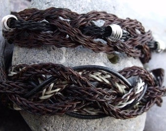 The Cuff Bracelet made of horsehair. Big, fat statement.