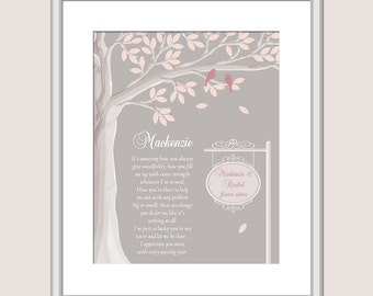 Gift For Sister - Personalized Sister Gift - Custom Sister Gift - Christmas Gift For Sister - Sister Poem - Sister Birthday Gift