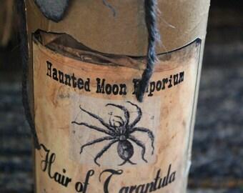 """Halloween Potion Bottle, """"Hair of Tarantula"""", Large Potion Bottle, Halloween Decoration, Halloween Prop, Grungy Halloween,"""