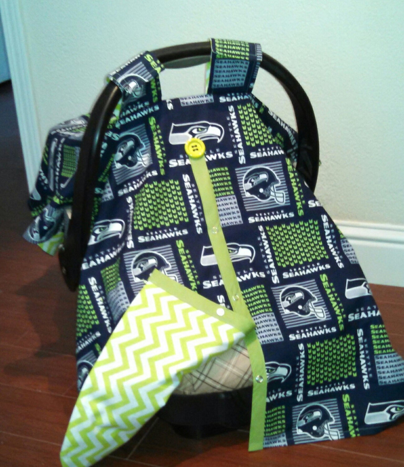 Boys seattle seahawks car seat canopy by rodellsboutique for Canopy boys