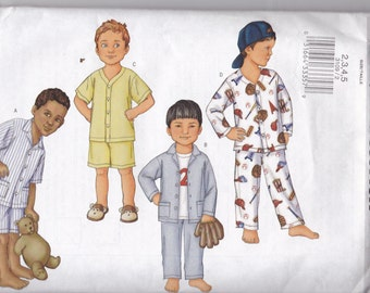 Butterick 3109 for Little Boys Pajamas Size 2 and 3