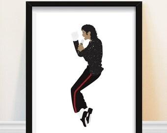 Michael Jackson - Michael Jackson Art Print - Poster - Minimalist Portrait - Number Ones - Michael Jackson Poster - 1980s Music Poster
