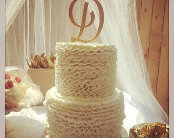 Custom Monogram Wedding Cake Topper