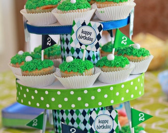 Golf Party Cupcake Toppers - INSTANT DOWNLOAD Printable Cupcake Toppers by Printable Studio