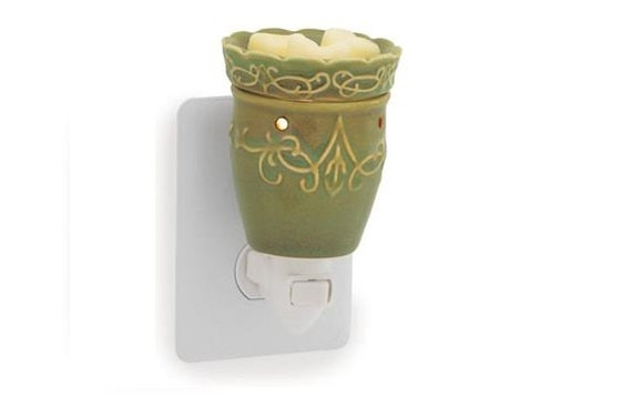 Unique Home Decor Wax Melter Candle Warmer Green Imperial