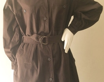 Iconic Saint Laurent YSL Oversized Belted Safari Jacket SIZE M/L
