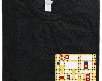 Broadway Boogie Woogie Pocket Shirt (Piet Mondrian)