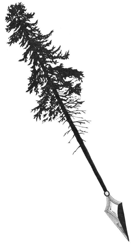 Tree U0026 Arrow Tattoo Sketch