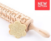 Greyhound - Embossed, engraved rolling pin for cookies