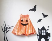 Baby Girl Toddler Halloween dress, Kids Halloween costume, Pumpkin Dress, Pumpkin Bubble Skirt Orange Polka Dot Sz 1T, 2T, 3T, 4T