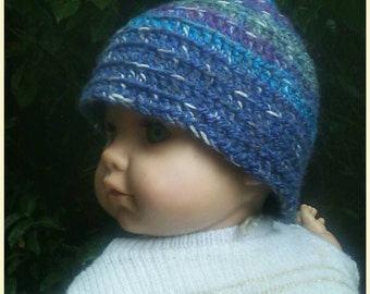Baby/toddler crocheted Pixie hat