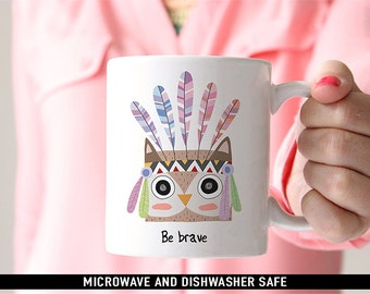 Be Brave Owl Coffee Mug