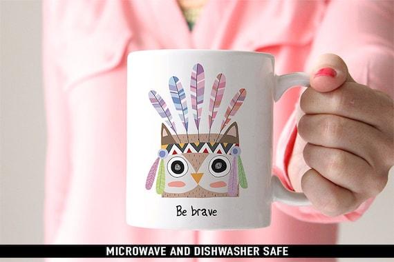 Be Brave Owl Coffee Mug
