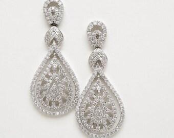 Vintage Earrings, Statement Earrings, Chandelier Earrings, Wedding Jewelry, Bridal Jewelry, Wedding Earrings, Matangi Earrings, IN STOCK