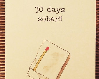 Monthly Sober Anniversary Cards - Matchbooks