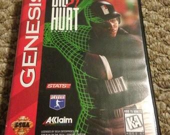 Big Hurt Sega Genesis Game. Baseball. Works Great! Free Shipping!
