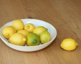 large salad bowl, white salad bowl, white fruit bowl, ceramic salad bowl, large ceramic bowl